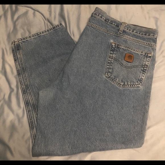 b0aa295d Carhartt Jeans   Mens Stonewash B17 Stw Relaxed Fit   Poshmark